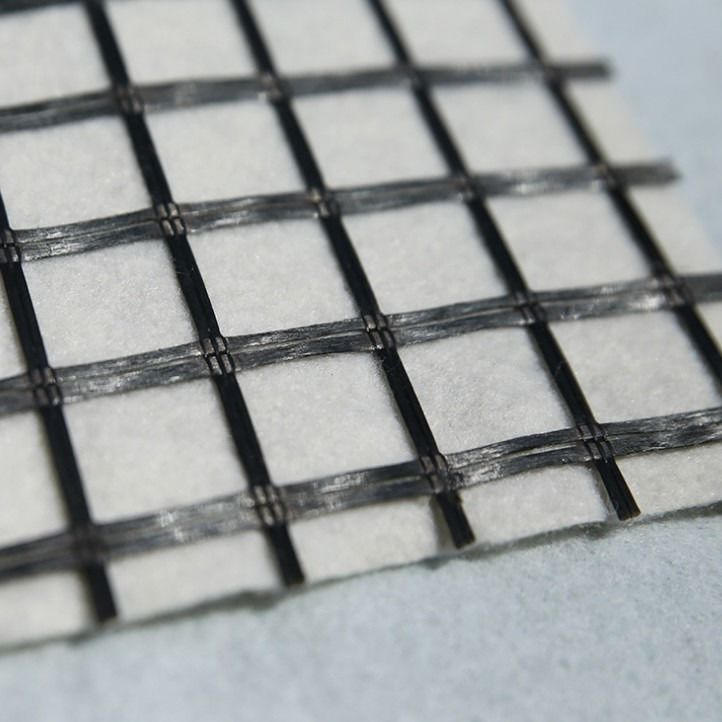 Paving Mat Modified Bitumen Coated Glass Fiber Geogrid Fabric
